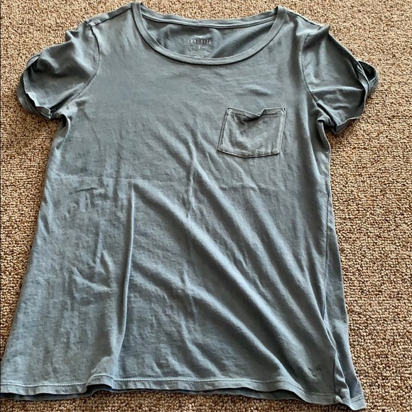 8ab128c2 American Eagle Outfitters Tops | Comfy T With Rolled Sleeves And A ...
